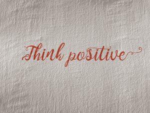 denk positief tijdens fertiliteitstraject